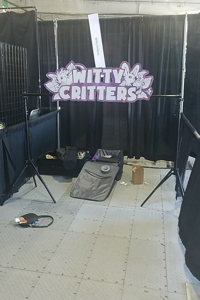 A very empty venue booth